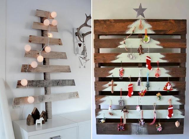 decoração de natal com paletes