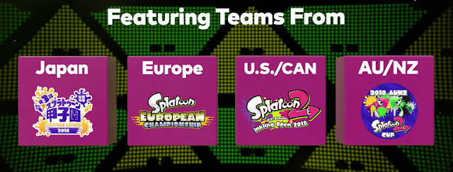 Splatoon 2 World Championship 2018 qualifying tournaments Japan Europe America Oceania