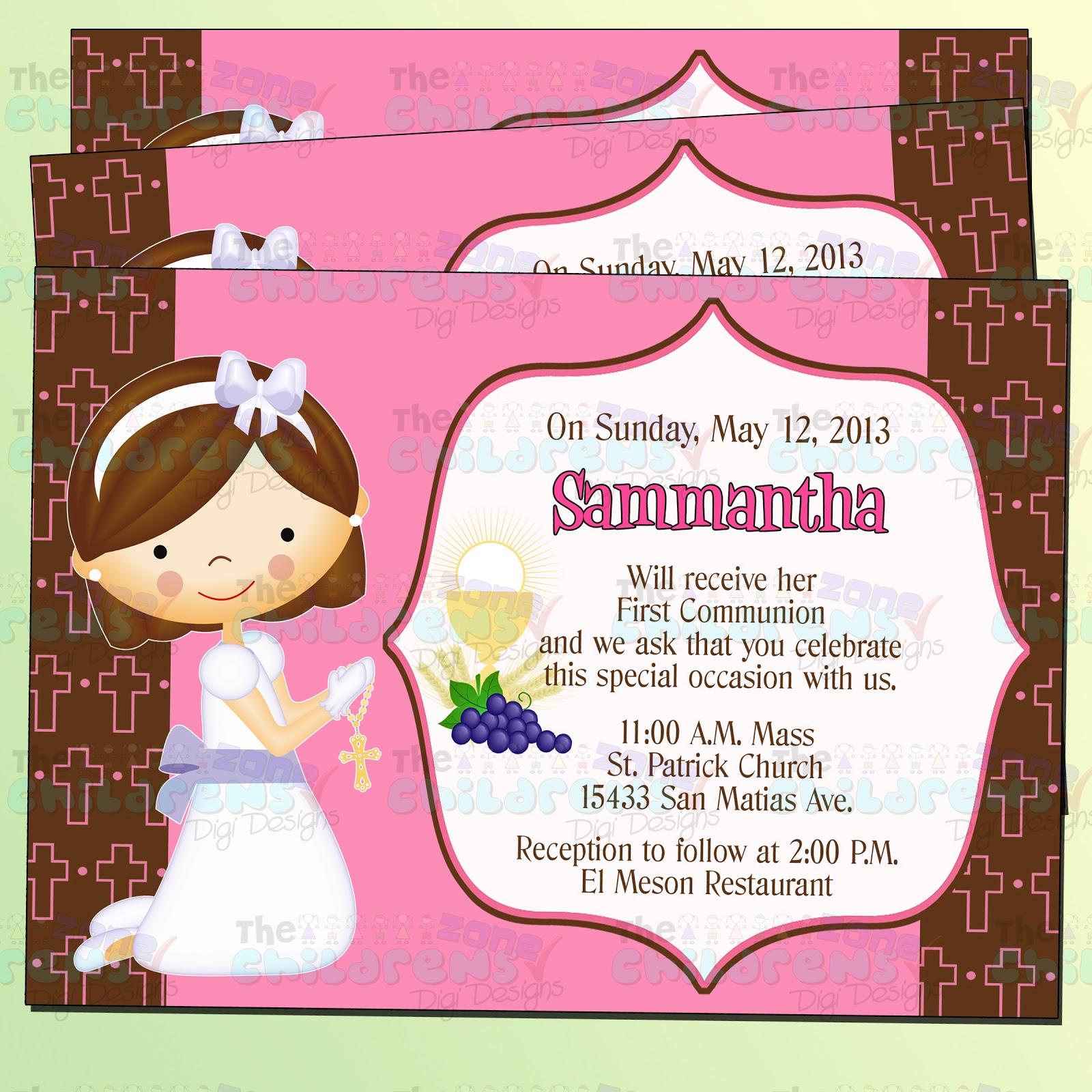 Nuestra primera comunion invitaciones