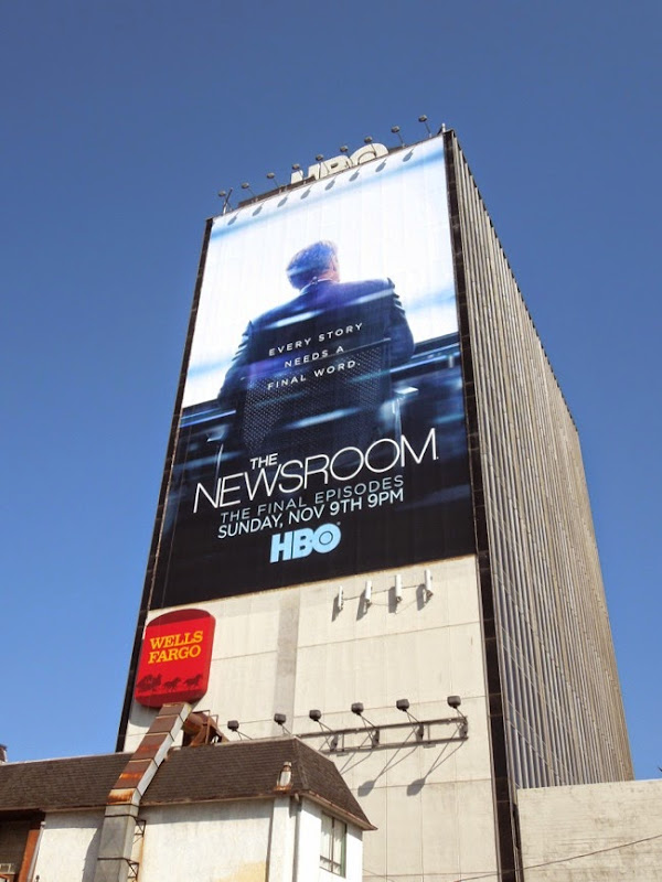 The Newsroom final episodes giant billboard