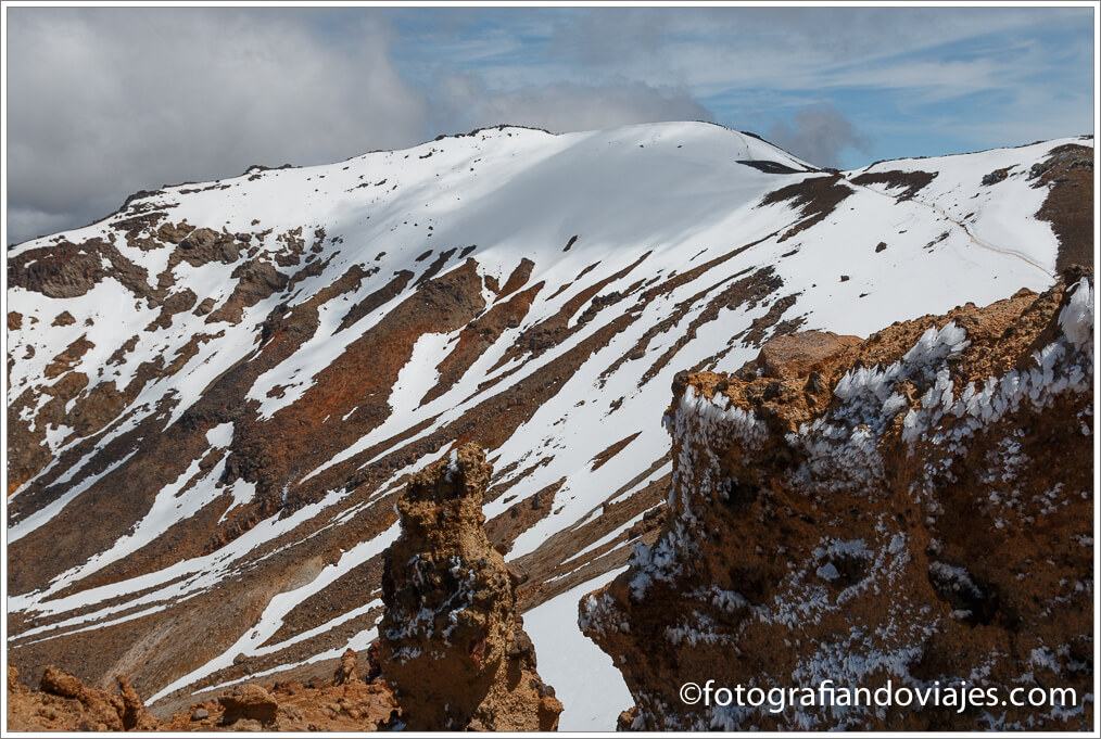 Monte Tongariro en  Tongariro Alpine Crossing