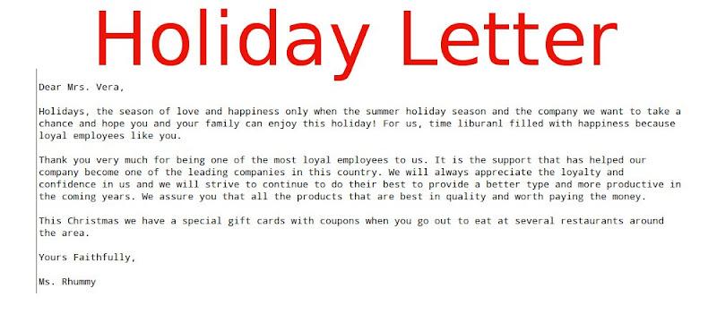 muhamad kudhori Google – Holiday Letter