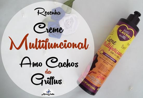 Resenha Creme Multifuncional - Amo Cachos da Griffus