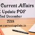 Daily Current Affairs 2nd December 2018 For All Competitive Exams | Daily GK Update PDF
