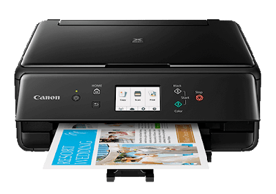 printer resembles the other models of the serial fifty-fifty if it too has merely about ergonomic speci Canon Pixma TS6150 Driver Download