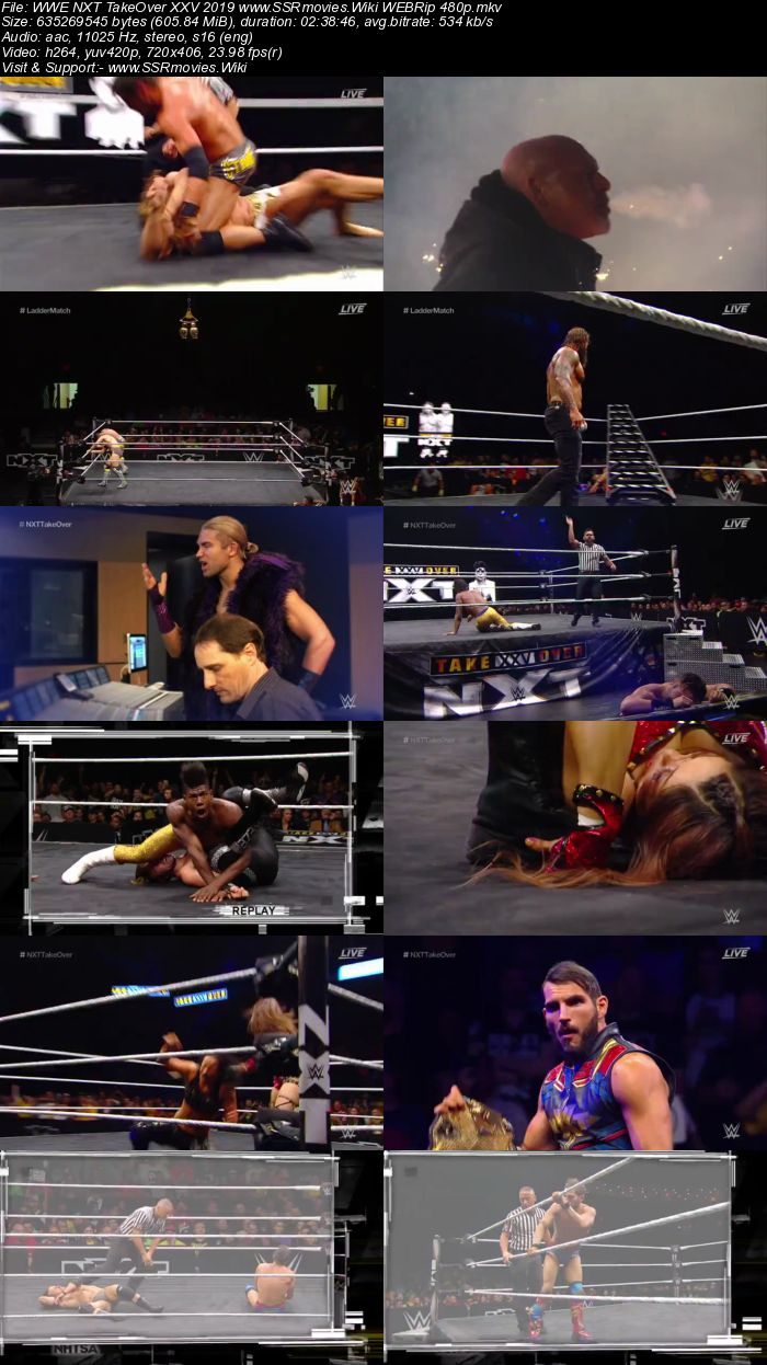 WWE NXT TakeOver XXV 2019 WEBRip Full Show Download HD
