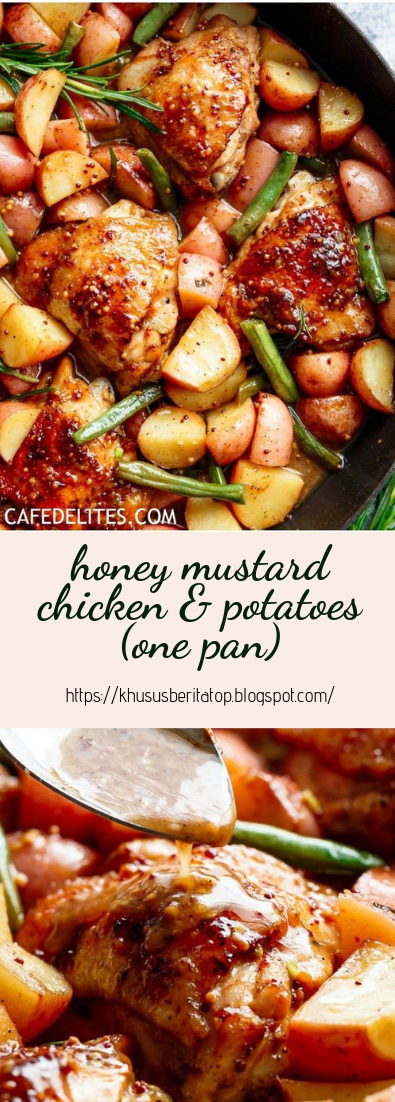 honey mustard chicken & potatoes (one pan) #vegan #recipevegetarian