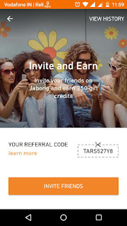 Jabong Referral Code for Rs.250 Off on Rs.700 Coupon