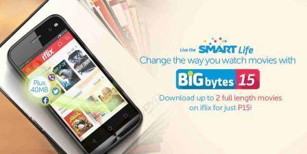 Smart iFlix Promo to Download up 2 Movies using Bigbytes 15