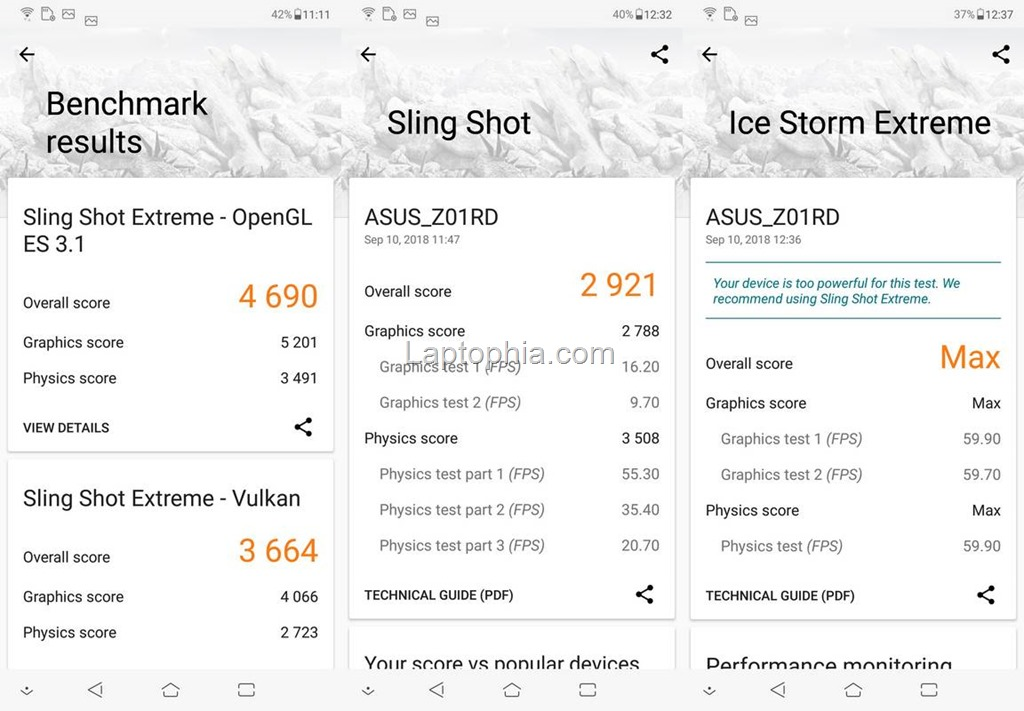 Benchmark 3DMark Asus Zenfone 5z