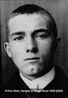 Arthur Ross, hanged at Boggo Road Gaol, Brisbane, in 1909.