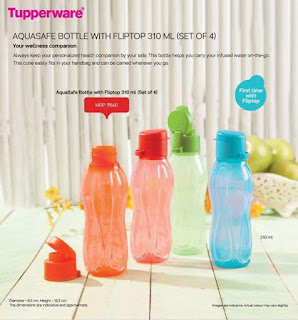 TupperwareAquasafe bottle with (Fliptop 300Ml)