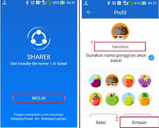 Mengirim Aplikasi Android melalui SHARE it