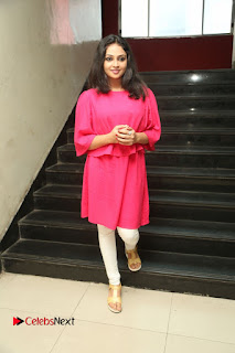 Actress Arundathi Nair Stills in Red Chididar at Bethaludu Success Meet  0131.JPG