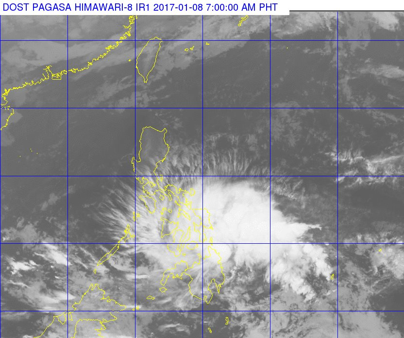 'Bagyong Auring' PAGASA weather update January 8, 2017