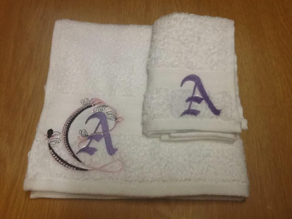 Wedding Gift Towels: Embroidery Girl: Wedding Gift