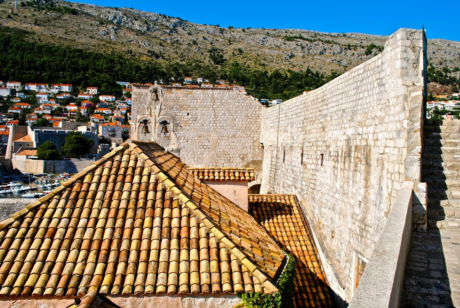 Views walking the old town walls in Dubrovnik Croatia