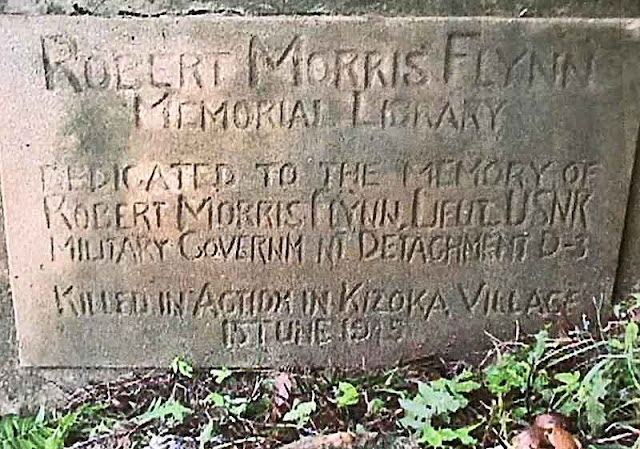 Memorial, Robert Morris Flynn, killed in action, USN, Jun 15 1945