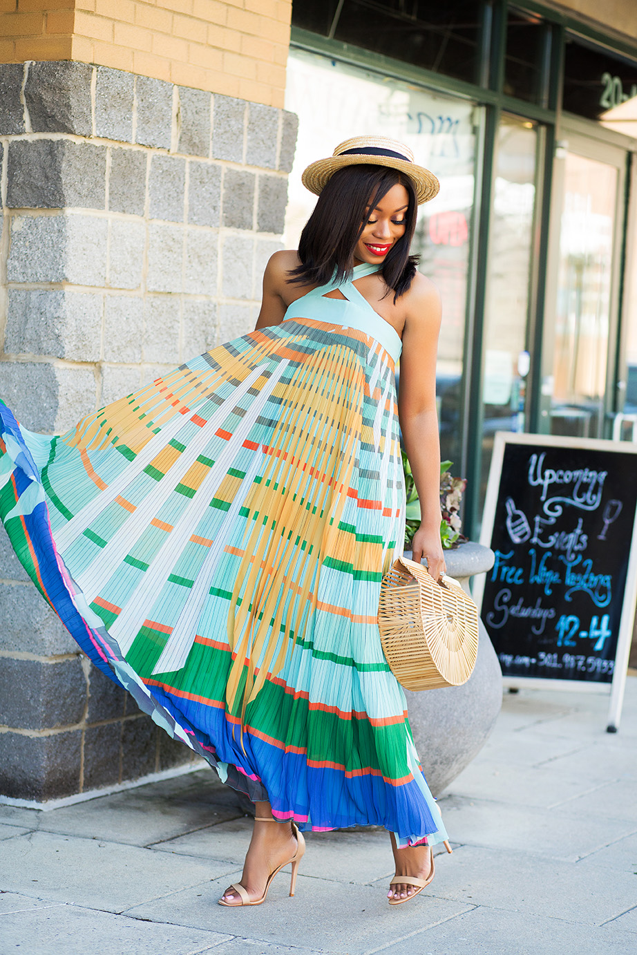 Stella-adewunmi-jadore-fashion-in-pleated-abstraction-maxi-dress