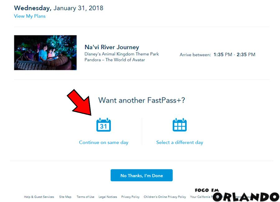 Agendar seu FastPass+ da Disney World