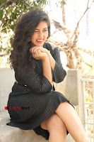 Telugu Actress Pavani Latest Pos in Black Short Dress at Smile Pictures Production No 1 Movie Opening  0171.JPG