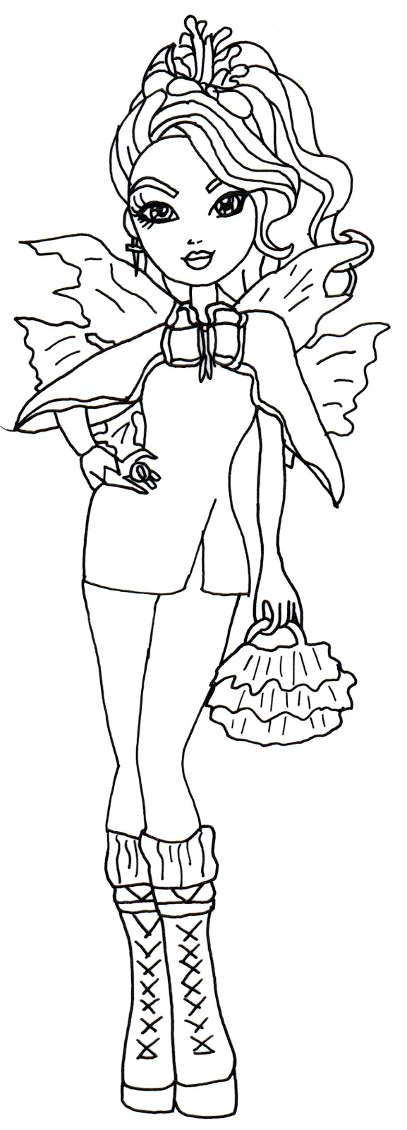 Free Printable Ever After High Coloring Pages Faybelle
