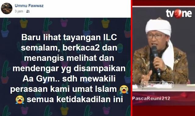 Warganet: Terimakasih Aa, Telah Mewakili Perasaan Kami Umat Islam