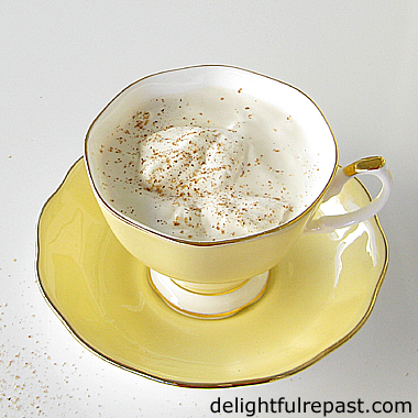 Earl Grey Eggnog - A Delightful Twist on the Classic / www.delightfulrepast.com