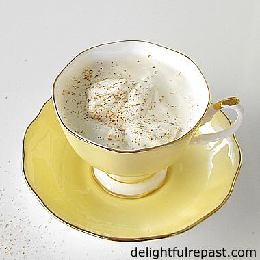 Earl Grey Eggnog - A Delightful Twist on the Classic / www.delightfulrepast.com