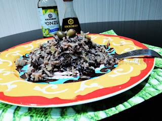 Императорски ориз с гъби и соев сос