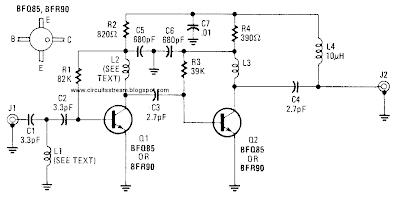 build a uhf tv preamplifier circuit diagram