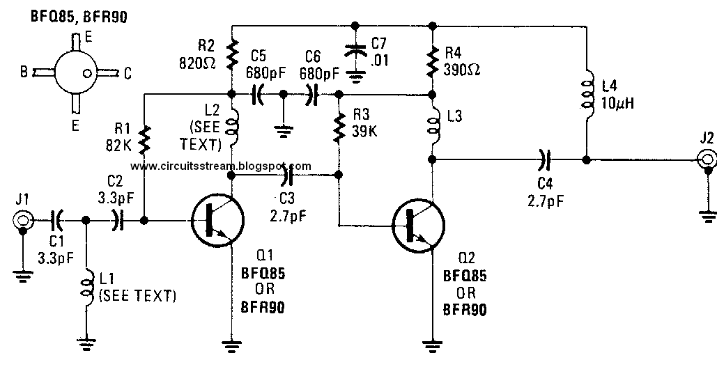 uhf preamplifier circuit diagram