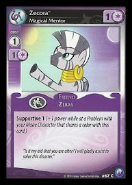 My Little Pony Zecora, Magical Mentor Canterlot Nights CCG Card