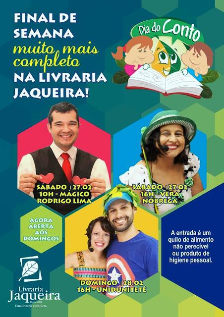 Livraria Jaqueira programação infantil