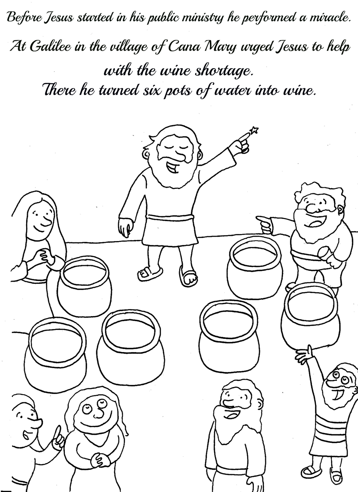lesbian wedding coloring pages | Favour in Fun: Miracles of Jesus Activity Book