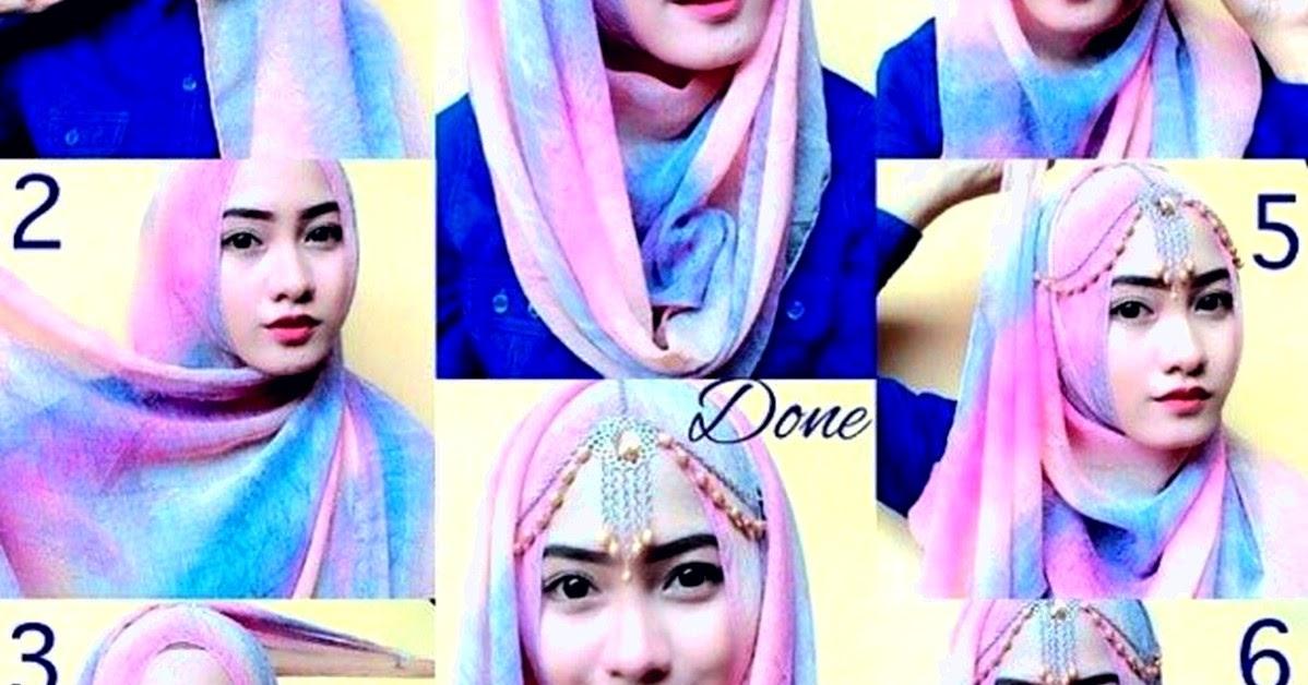 Tutorial Jilbab Pashmina Glitter Turban Cocok Untuk Hadiri Acara Pernikahan Pintar Mencocokan
