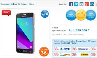 Harga dan Promo Samsung Galaxy J2 Prime Januari 2017