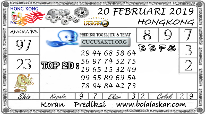 Prediksi Togel HONGKONG LASKAR4D 20 FEBRUARI 2019
