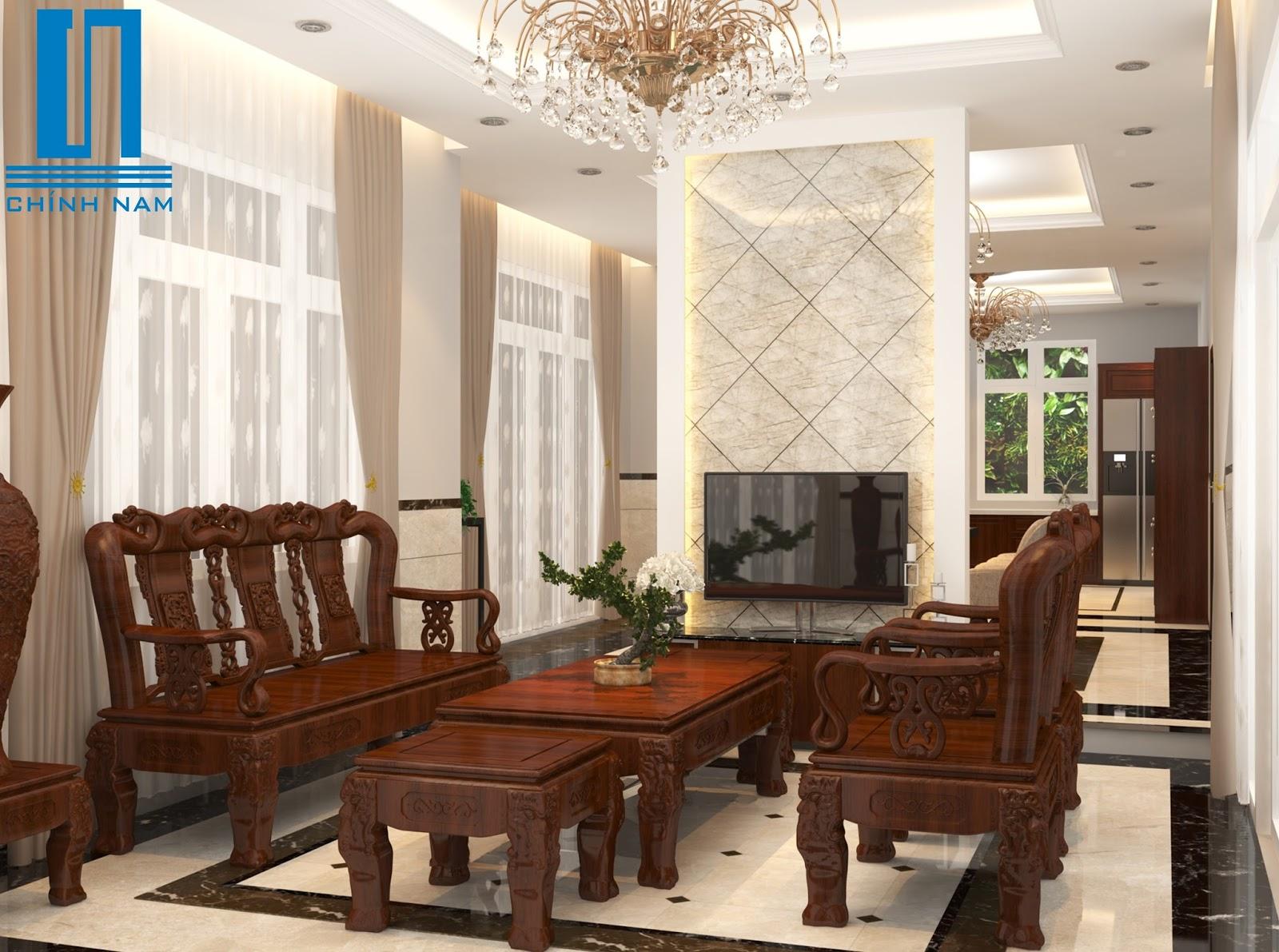 Nội thất phòng khách nhà anh Rành ở Biên Hòa