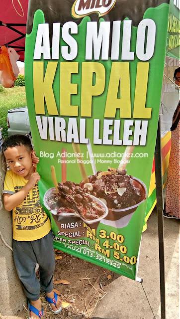 Ais Milo Kepal Viral Leleh, Taman Merbok, Melaka