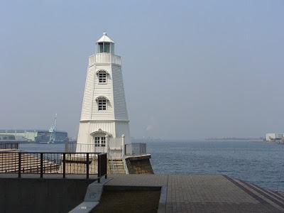 Menikmati Pemandangan Di Old Sakai Lighthouse Jepang