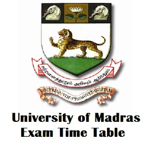 University of Madras IDE Timetable 2017