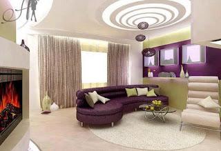 diseño de sala falso techo
