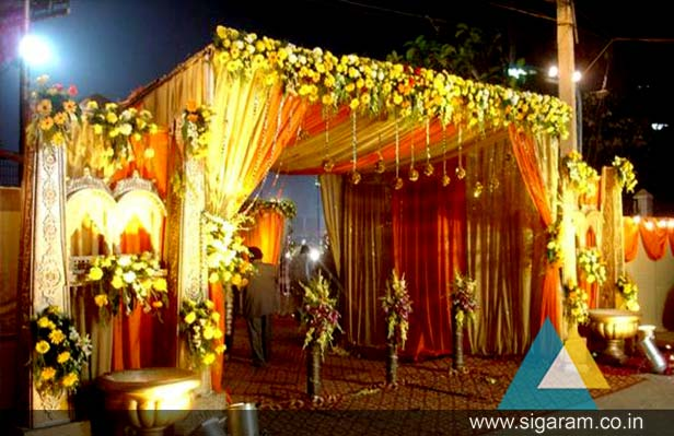 Wedding And Reception Indoor Outdoor Entrance Arch