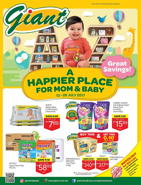 Giant Catalogue A Happier Place for Mom & Baby Great Savings Discount Offer Promo
