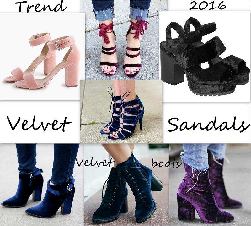 velvet shoes sandals boots