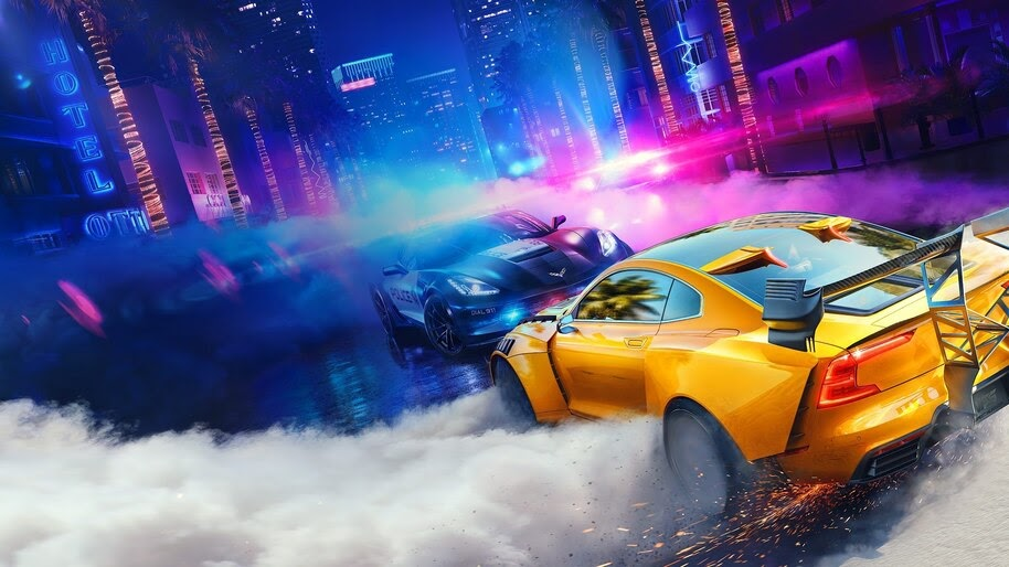 Need For Speed Heat Cars Drifting 4k Wallpaper 3 489