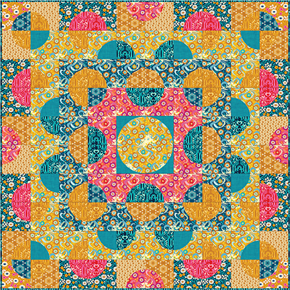 Quilt Inspiration Free Pattern Day Sun And Moon Quilts