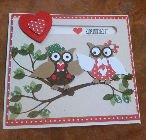 Hochzeitskarte Mit Eulen Teil 2