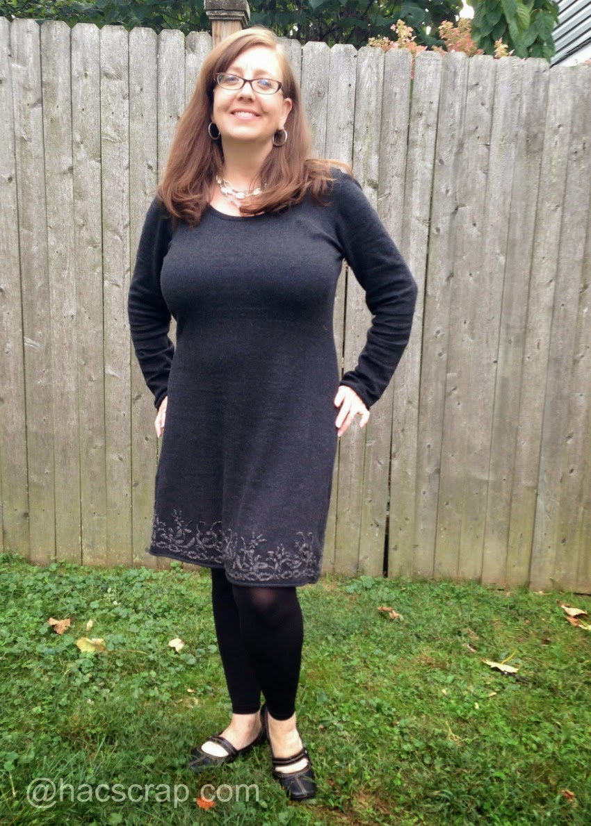 Grey Adventura Dress - MidLife Mom Style | My Scraps